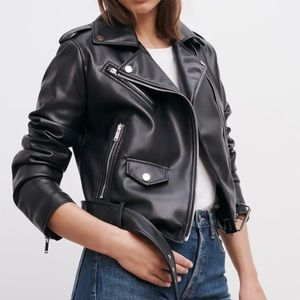 ZARA FAUX LEATHER JACKET - NEW WITH TAGS